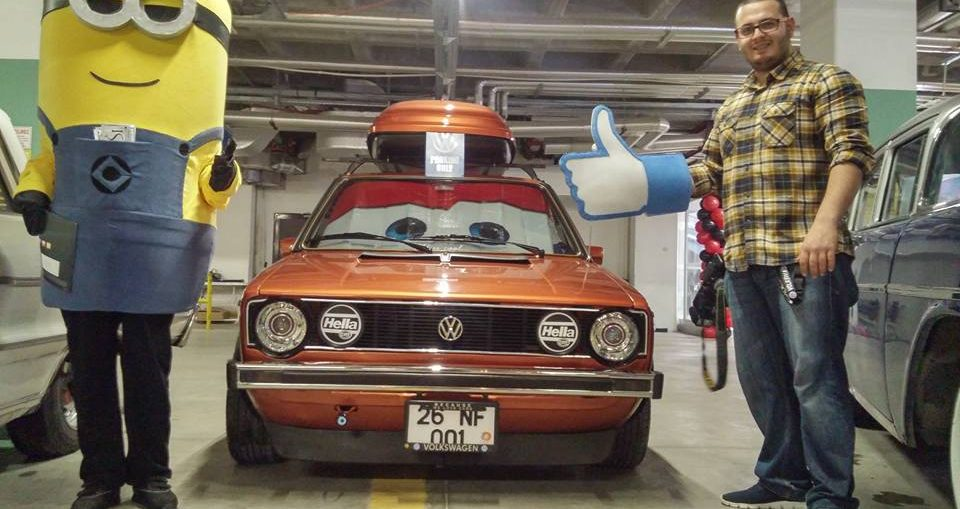 This guy keeps his 83 VW Golf FRESH with Stretching Foil